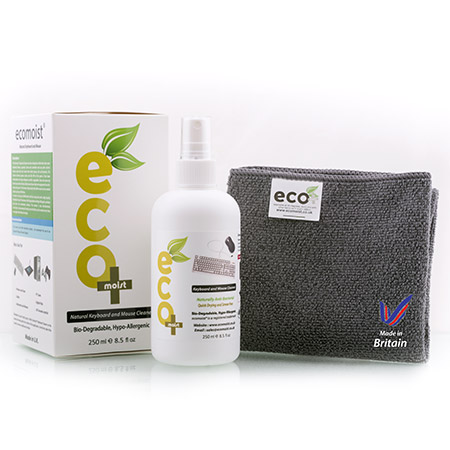 Keyboard and Mouse Cleaner ecomoist 250ml