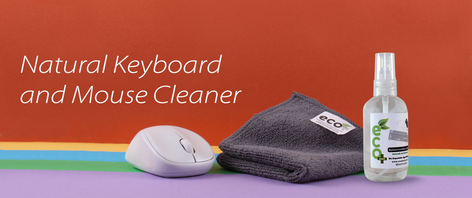 Keyboard Mouse Cleaner 100ml Banner Ecomoist Screen Cleaner