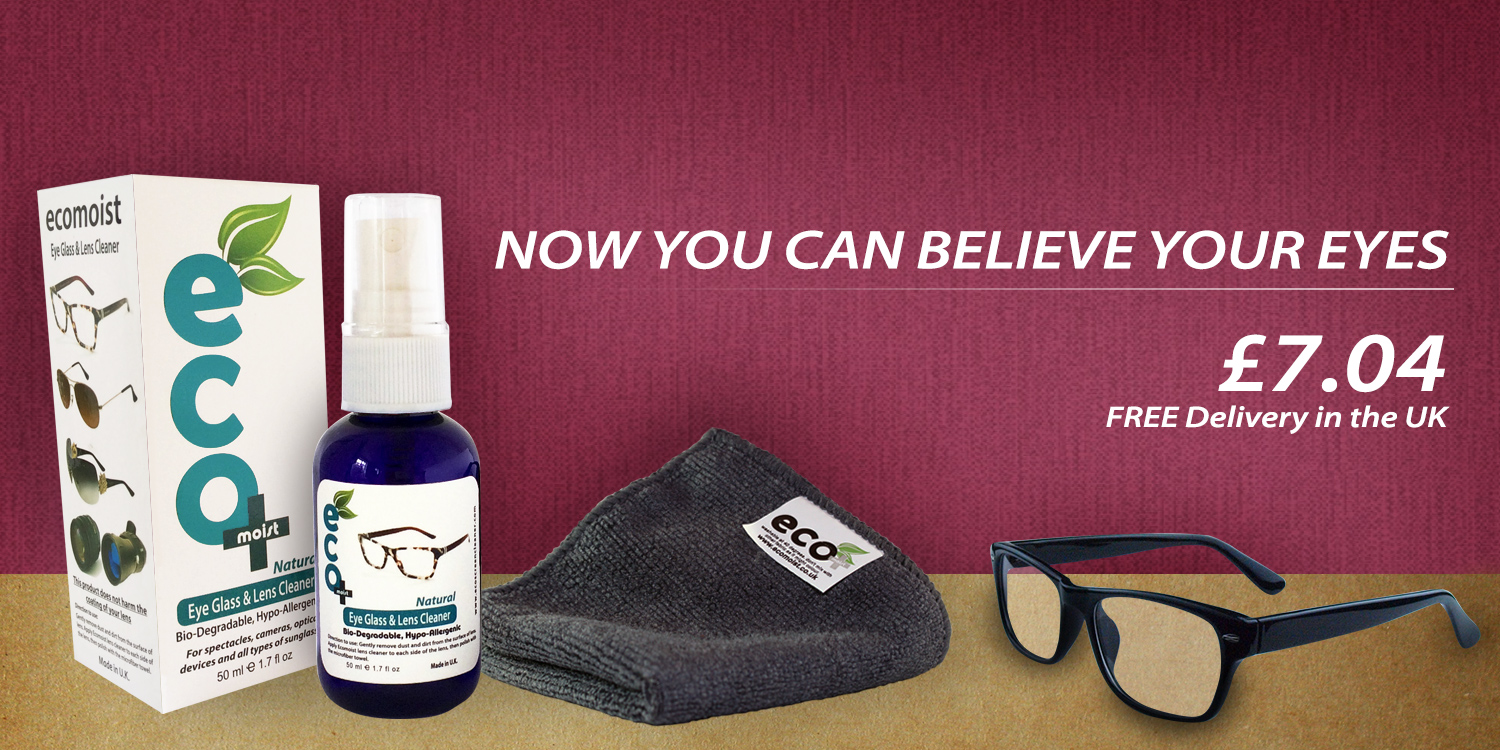 eyeglass and lens cleaner with microfiber towel