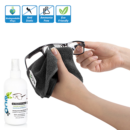 Ecomoist antibacterial eyeglass cleaner