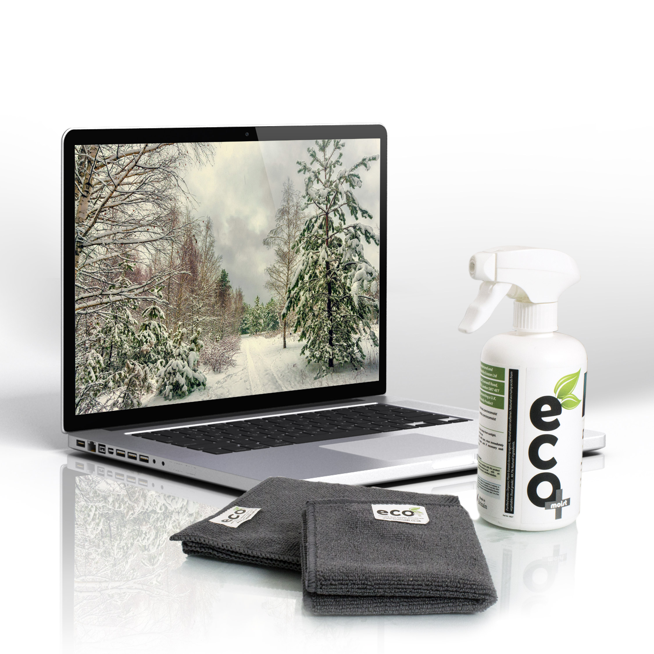 Ecomoist Screen Cleaner 500ml and Notebooks