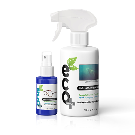 Natural Cleaning Kit 500ml Lens Cleaner 50ml Bundle